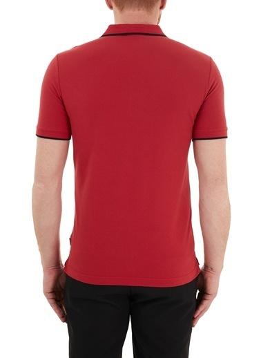Calvin Klein  Slim Fit Pamuklu Düğmeli Polo T Shirt Erkek Polo K10K107211 Xk6 Kırmızı